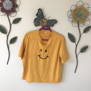 Oversized smiley face Tee